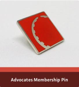 Advocates Membership Pin